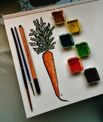 A carrot for the day. by Gozppzog