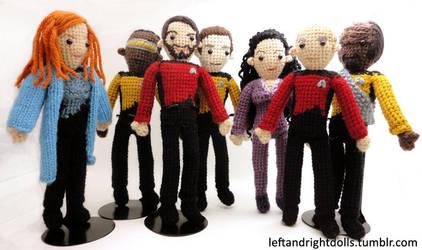 Star Trek: The Next Generation Group by leftandrightdolls