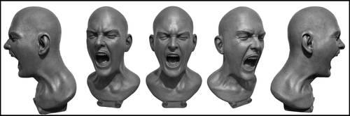 screaming man by death-a-holic