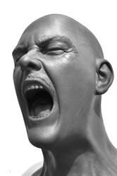 screaming man II by death-a-holic