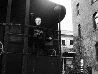 D on the train 2 in mask by gothicsushi