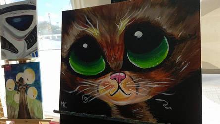 Big green eyes by gothicsushi