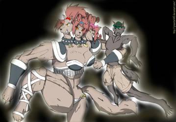 Minerva and London FANART by Greentark46