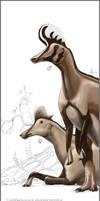 Lambeosaurus magnicristatus by TopGon