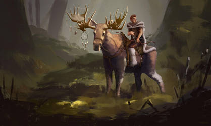 Moose Rider by MgcUsr