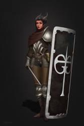 Tiefling Knight by MgcUsr