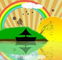 Rainbow Island by artpenalization