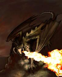 a dragon by aalbaich