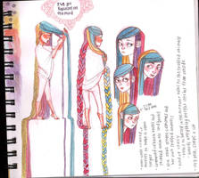 Rapunzel Sketchpage by blouse