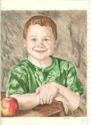 colored pencil portrait by metalliphil