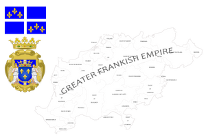 Greater Frankish empire (mapping) by DimLordofFox