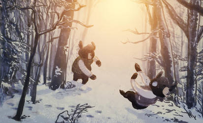 Snowball Fight by ftongl