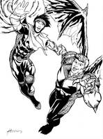 Wiccan and Hulkling by BrianAtkins