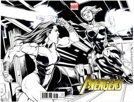 Captain Marvel vs SheHulk by BrianAtkins