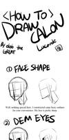 How to Draw Calon (or Inseo) - for GtRO ppls by lewd-dodo
