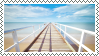 tropical beach stamp 3 by bulletblend