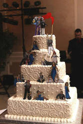 Conan Obrien Zombie Apocalypse Wedding Cake by Meg-Glefke