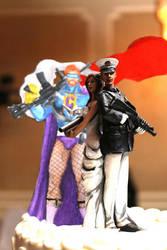 Conan Obrien Zombie Apocalypse Wedding Cake Topper by Meg-Glefke