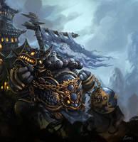 Pandaren Warrior by linxz2010
