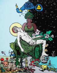 Salvator Mundi by WaldekBorowski