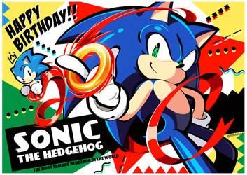 26th Happy Birthday Sonic ! by MRi