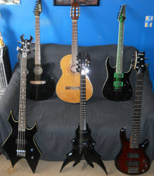 Our Guitars - outdated pic by Sorath-Rising