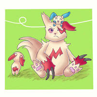 Zangoose, Minun, and Plusle by xTaini
