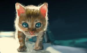 kitten - 45min speedpainting by speedy-painter