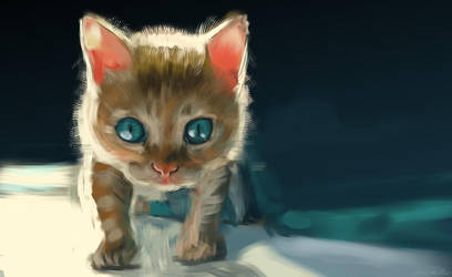 kitten - 45min speedpainting by speedy-painter