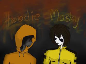 Masky and Hoodie by SomeRandomDudeGirl