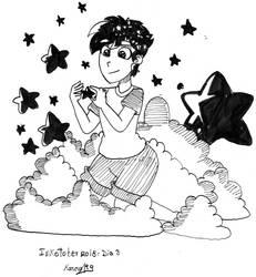 inktober day number 3 rain of stars by mitkuki
