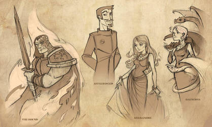 Game of Thrones Sketches by oraclestudios