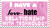 love hate relationship stamp by piratekit
