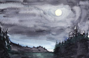 Hogwarts by Moonlight by raitala