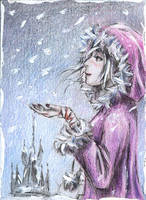 A Traveler - A City In Snow by AngieVX