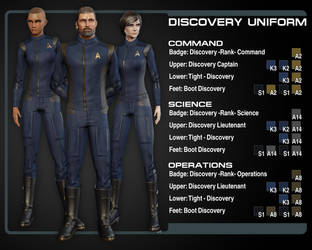 Discovery Uniform color Guide (Departments) by Taidyr