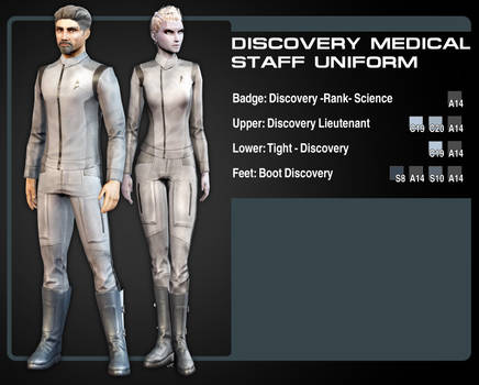 Discovery Uniform color Guide (Medical staff) by Taidyr