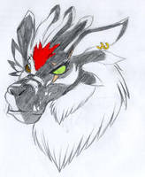 Akela Taka as a WereGarurumon. by Kitty-Lune