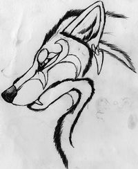 Tribal Wolf. by Kitty-Lune
