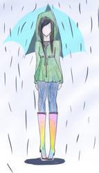 Rainy Day Fashion by CandyApplePie
