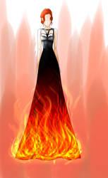 Fire-dress by CandyApplePie
