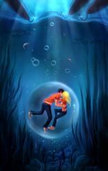 Underwater kiss by dacadaca