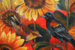 Sunflower Field by CrowFairy