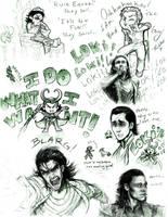 Loki Doodles by AlexandriaMonik