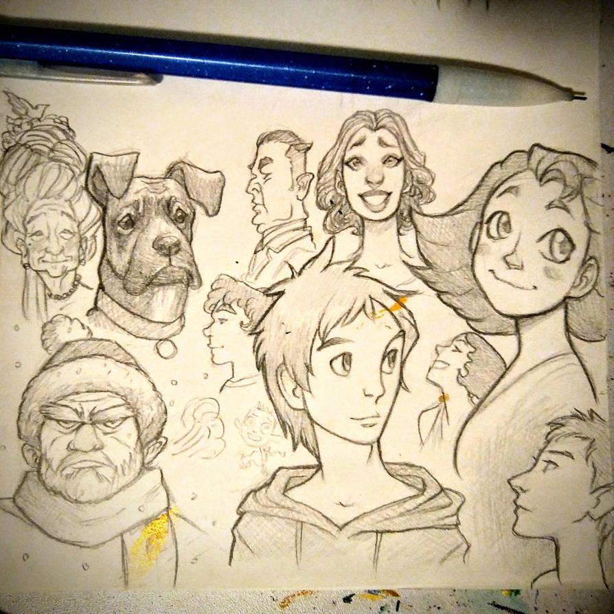 Doodle Dump by AlexandriaMonik