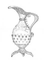 Pitcher Concept Drawing by Aelfgifu