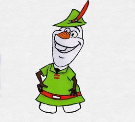 olaf as Robin Hood by TortallMagic
