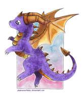 The cutest purple dragon ever by Pharaonenfuchs