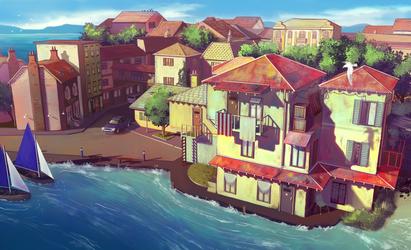 Coastal Town by shmekldorf