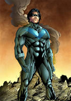 Nightwing colored by Dany-Morales